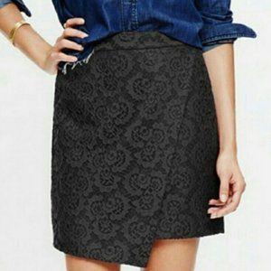 NEW Madewell Asymmetrical Black Mini Skirt